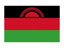 马拉维国旗矢量图