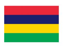 毛里求斯国旗矢量图