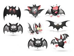 各種表情卡通蝙蝠矢量素材