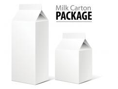 牛奶包装盒矢量素材