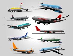 多款民航客机矢量素材