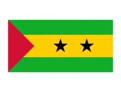 圣多美和普林西比国旗矢量图