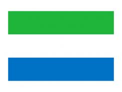 塞拉利昂國旗矢量圖
