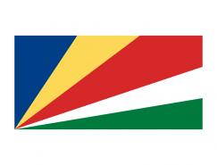 塞舌爾國旗矢量圖