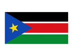 南苏丹国旗矢量图