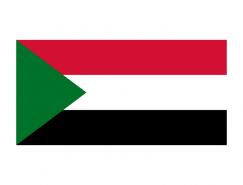 苏丹国旗矢量图