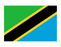 坦桑尼亚国旗矢量图