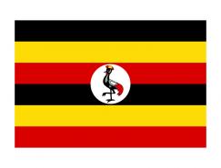 乌干达国旗矢量图
