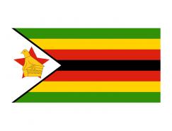 津巴布韦国旗矢量图