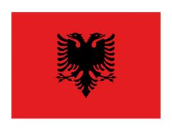 阿爾巴尼亞國旗矢量圖
