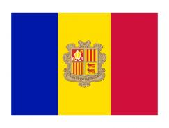 安道爾國旗矢量圖