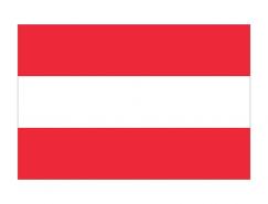 奧地利國旗矢量圖