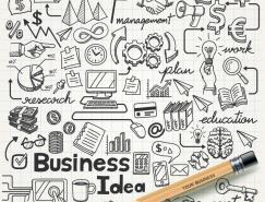 手绘信息图表商业元素矢量素材
