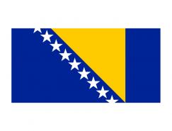 波黑國旗矢量圖