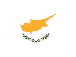 塞浦路斯国旗矢量图