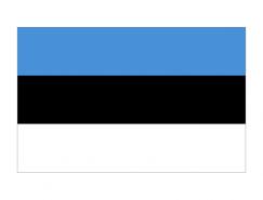 爱沙尼亚国旗矢量图