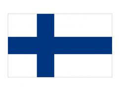 芬兰国旗矢量图