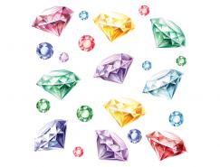 彩色钻石矢量素材