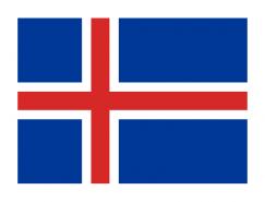 冰岛国旗矢量图