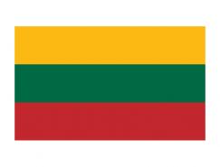 立陶宛国旗矢量图