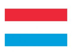 卢森堡国旗矢量图