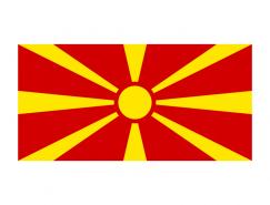 马其顿国旗矢量图
