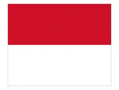摩纳哥国旗矢量图