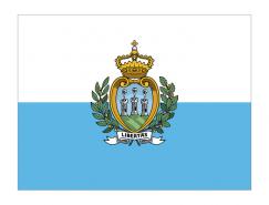 圣马力诺国旗矢量图