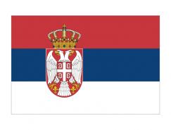 塞尔维亚国旗矢量图