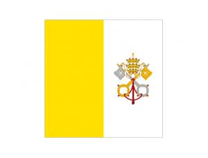 梵蒂冈国旗矢量图