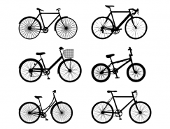 6款自行车剪影矢量素材