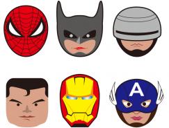 超级英雄人物头像矢量素材