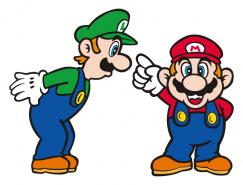 游戏人物:超级玛丽兄弟矢量素材
