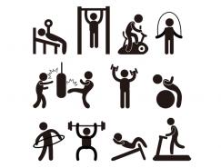 多种健身项目主题矢量素材