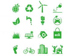 绿色环保主题图标矢量素材