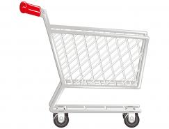 超市购物车矢量素材(2)