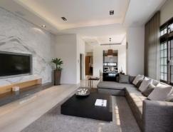 台湾简约别致的复式公寓设计