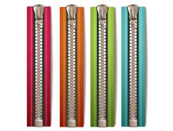 4种色彩的拉链矢量素材