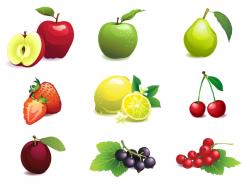 12种水果矢量素材