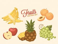 复古风格各种水果矢量素材