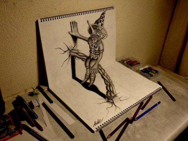 的3d立体铅笔画