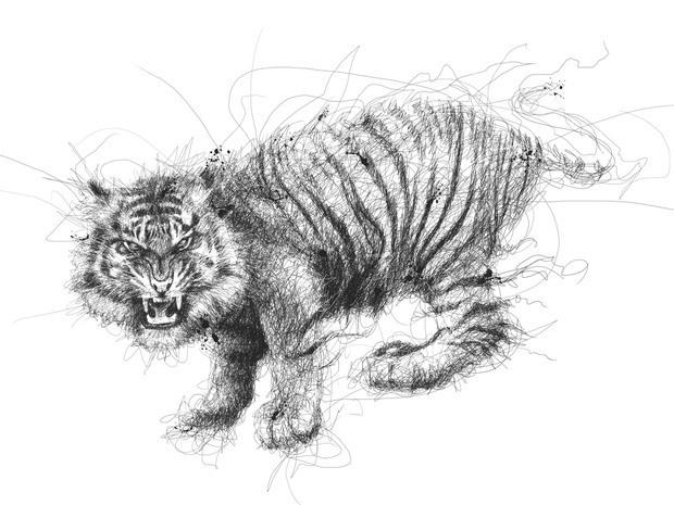 low动物铅笔画欣赏