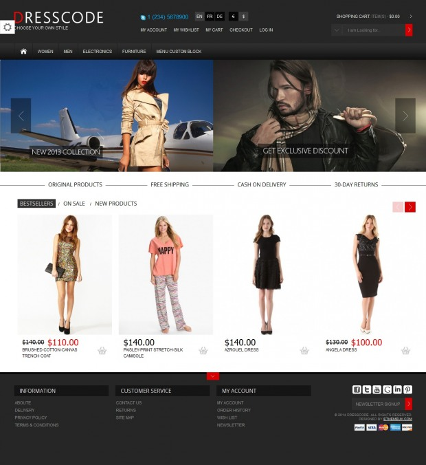 16个基于magento的时尚购物网站设计(3)