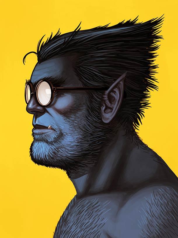 mike mitchell漫威超级英雄人物肖像插画(2)