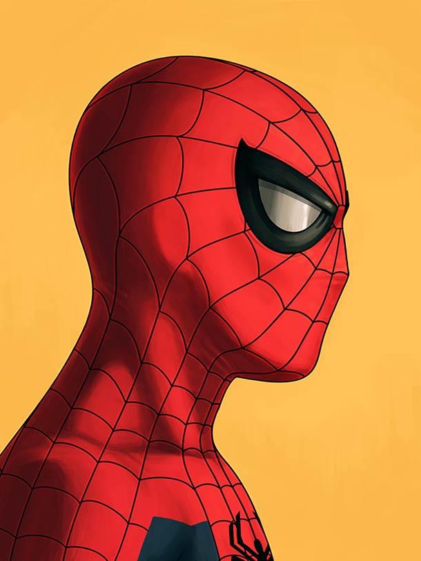 mike mitchell漫威超级英雄人物肖像插画