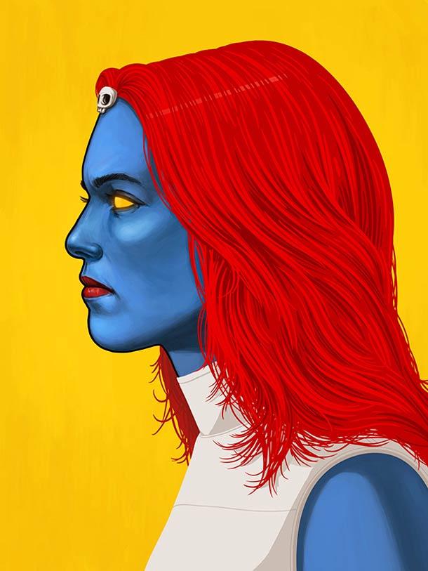 mike mitchell漫威超级英雄人物肖像插画(4)