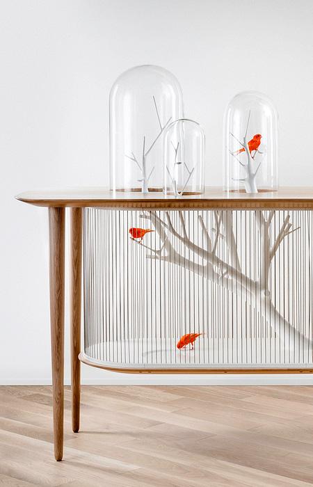 创意鸟笼桌设计欣赏