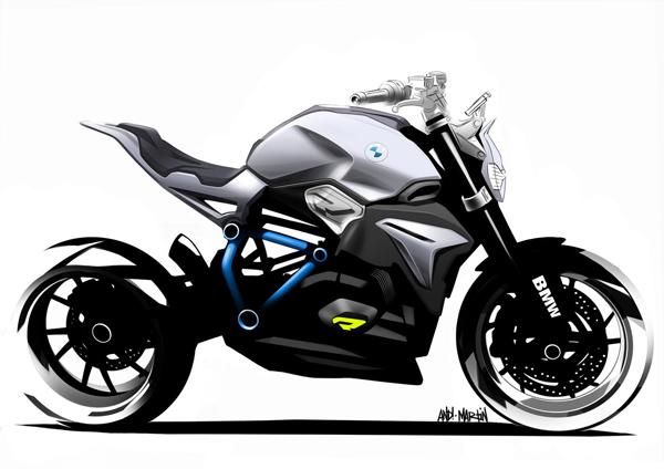 充满未来感的宝马concept Roadster概念摩托车 2 设计之家