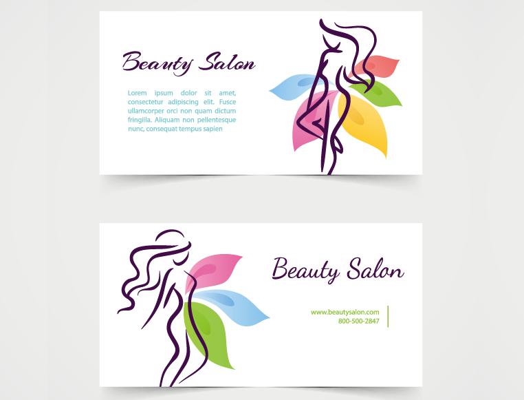 美发造型沙龙名片模板矢量素材(3)图片