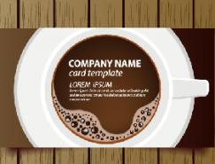 咖啡店名片模板矢量素材(1)
